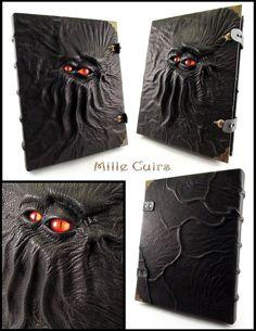 Two-eyed Necronomicon - More details by MilleCuirs.deviantart.com on @deviantART