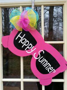 Summer door hangersunglasses door hanger summer by MoniLulis