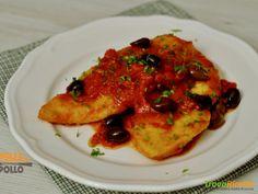 Palombo in padella con salsa al pomodoro  #ricette #food #recipes