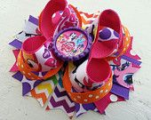 My Little Pony Inspired Boutique Layered Hair Bow -My Little Pony Inspired Birthday Hair Bow