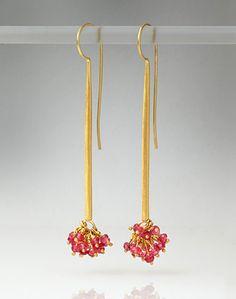 Jean Scott-Moncrieff - Spinel cluster Earrings