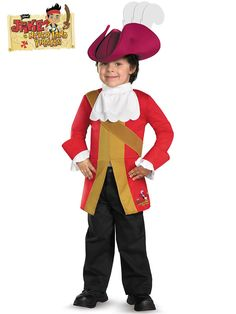 Celebrate with Disney Jake And The Neverland Pirates Captain Hook Toddler/Child Costume. Huge Range Disney Jake and the Neverland Pirates Costumes for Halloween at PartyBell. Disney Halloween Costumes, Halloween Outfits, Halloween Ideas, Halloween 2015, Pirate Halloween, Halloween Crafts, Happy Halloween, Toddler Costumes, Family Costumes