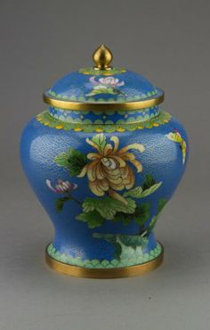 Chinese Enamel Painted Cloisonne Ginger Jar CHINESE ANTIQUES : More At FOSTERGINGER @ Pinterest