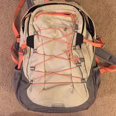 North Face Borealis Backpack This north face back pack has been dearly loved but is still in GREAT condition! It has some spots on it but had held up amazingly! Nothing is ripped or torn. Feel free to make me an offer or ask any questions! North Face Bags Backpacks