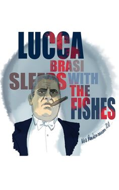 """The Godfather - I quite like this. It's a shame that Luca should be spelled with only one 'L'. """"Luca Brasi sleeps with the fishes"""" #GangsterMovie #GangsterFlick"""