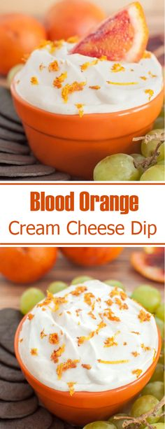 A tangy and creamy fruit dip makes a perfect appetizer for a winter or Christmas party. Serve this blood orange cream cheese as a dessert dip with cookies too. Made with real blood orange juice and zest.