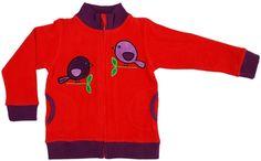 Jacket Red Birds - Vest Rood Vogeltjes Duns - leuk voor Tilly - 42,50 euro (solden?)