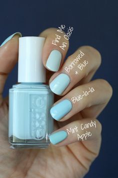 Something blue nail ideas for wedding day - nail polish ideas for bridal beauty - wedding nail polish - blue essie nail polish options for wedding {Essie Envy} Love Nails, How To Do Nails, Pretty Nails, Fun Nails, Glitter Nails, Stiletto Nails, Colorful Nail Designs, Nail Art Designs, Essie Nail Colors