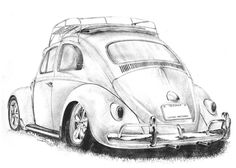 vw baja bug drawing - maybe for my brother tattoo