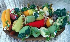 Frutas em patchwork de tecido e feltro