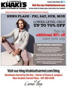 Khaki's of Carmel - News Flash!