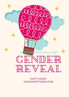 He or She? What will it be? Gender Reveal Party Ideas via Kara's Party Ideas Free Baby Shower Printables, Party Printables, Entrance Sign, Blue Balloons, Shower Inspiration, Dream Cake, Balloon Garland, Drip Cakes, Food Labels