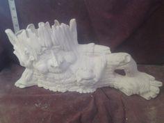 "TL Elmer planter, ready to paint 17"" x 8 1/2"" ceramic bisque, glazed inside"