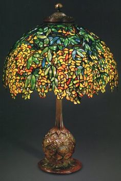 Laburnum Lamp. Photo: Colin Cooke. The Lamps of Louis Comfort Tiffany, by Martin Eidelberg, et al.