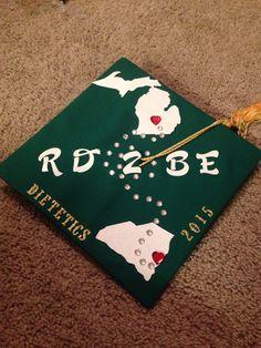 #dietetics #msu #graduationcap #michigan #southcarolina #michiganstateuniversity #RD2B