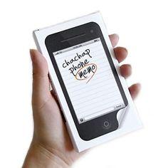 Bloco de notas Iphone