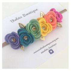 Felt Roses, Felt Flowers, Fabric Flowers, Ribbon Hair Bows, Diy Hair Bows, Ribbon Rose, Felt Headband, Baby Flower Headbands, Ribbon Flower Tutorial