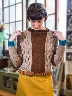 """Rythme,"" knit in Berroco Ultra Alpaca Chunky, from Berroco booklet #349."