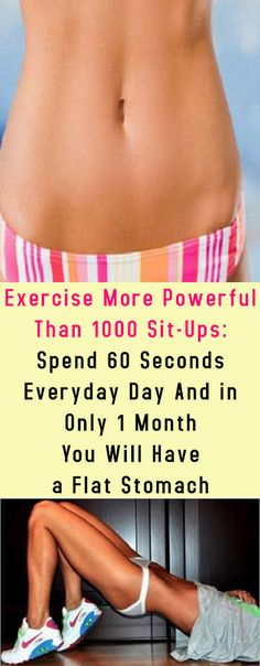 Exercise More Powerful Than 1000 Sit-Ups: Spend 60 Seconds Everyday Day And in Only 1 Month You Will Have a Flat Stomach #stomach #beauty #health #fitness