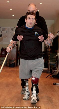 Britain's most injured surviving soldier is walking nearly two miles per day - and has eve...