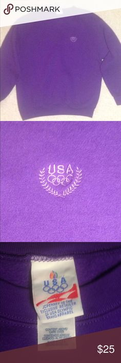 Vintage USA Purple Crewneck Vintage USA Crewneck in a dope purple color way perfect for supporting during the Winter Olympics jcpenney Sweaters Crew & Scoop Necks