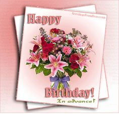 26 best 0 g birthday belated advance images on pinterest in 2018 birthday wishes in advance greeting cards m4hsunfo