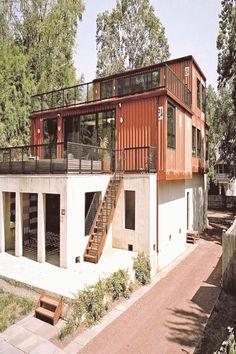 Simple House Design, Minimalist House Design, Minimalist Architecture, Tiny House Design, Minimalist Home, Modern House Design, Modern Architecture, Building Architecture, Sustainable Architecture