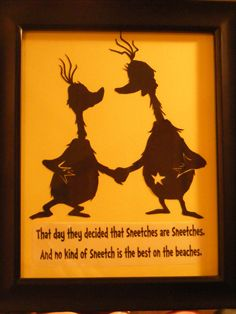 Sneetches silhouette artwork for baby's room