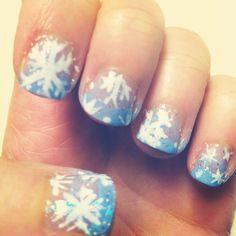 Frozen nails Nail Art Diy, Diy Nails, Frozen Nails, Holiday Nails, How To Look Pretty, Nail Designs, My Style, Nail Design, Nail Arts