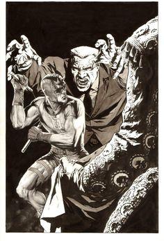 Daredevil cover by Lee Bermejo Marvel Comic Universe, Comics Universe, Marvel Dc, Marvel Comics, Daredevil Matt Murdock, Daredevil Elektra, Comic Books Art, Comic Art, Lee Bermejo