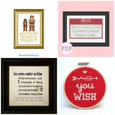 More Bookish Cross Stitch and Embroidery - Shown: The Princess Bride Cross Stitch and Embroidery