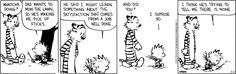 Calvin's dad tries to teach him something