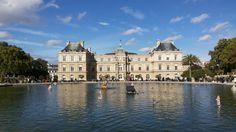 Jardin du Luxembourg em Paris, Île-de-France. Um jardim lindíssimo onde se pode, após um dia exaustivo, descansar com uma bela vista. Os parisienses também usam este jardim para praticar desporto. No entanto, com um dia de sol o jardim enche-se com pessoas para descansar e fugir ao stresse da cidade