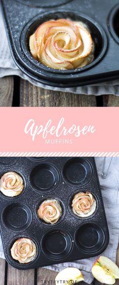 Muffins, die wie Rosen aussehen, aber aus einem Apfel gemacht sind? Mit diesem Rezept ganz einfach!