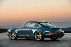 Blue Porsche reimagined by Singer