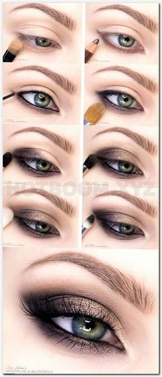 Hazel Eyes Light Prom Night Makeup