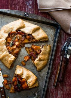 butternut squash, bacon and parmesan galette