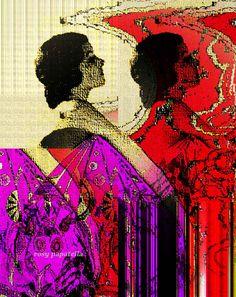 "arte digital vintage ""woman I"" by rosy papatella"