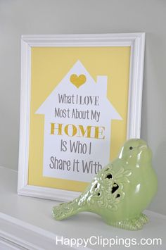 What I Love Most About My Home – Free Printable | HappyClippings.com