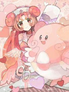 Japan Pokemon and Nurse Joy! Pokemon People, All Pokemon, Pokemon Fan Art, Lugia, Gijinka Pokemon, Princesa Peach, Joy Art, Night Elf, Pokemon Pictures