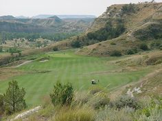 Bully Pulpit golf course in Medora. Hole 16. Wowza!!! Love this course.