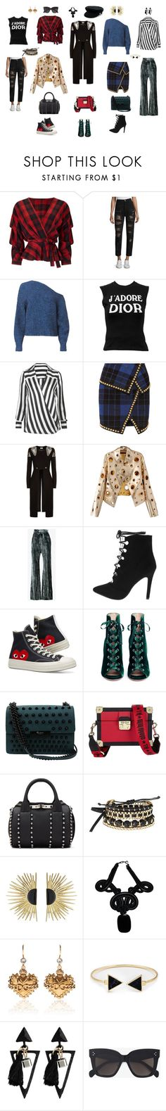 """Drama set"" by akmaral-mail on Polyvore featuring мода, Miss Selfridge, Tommy Hilfiger, T By Alexander Wang, Christian Dior, Balmain, Temperley London, WithChic, Ann Demeulemeester и Converse"