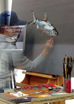 Progress^^ #김영성 #극사실 #물고기 #개구리 #달팽이 #극사실주의 #현대미술 #ykim #YoungsungKim #Hyperrealism #hyperrealistic #oil #painting #drawing #contemporary #art #handpainted #environment #frog #snail #insect #goldfish #animal #sculpture #museum #artgallery #gecko #waterfallgallery #plusonegallery #redseagallery