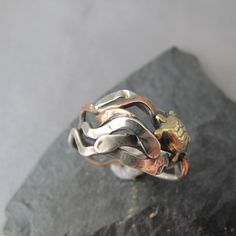 Turtle Kelp mixed metal ring. $52.00, via Etsy.