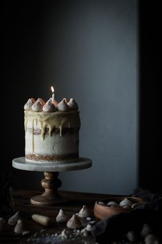 A beautiful Vanilla Bean Butter Cake + White Chocolate Mousse from Kayley Happy Blog Birthday! http://thekitchenmccabe.com/2016/11/10/vanilla-bean-butter-cake-white-chocolate-mousse-3-year-blogiversary/