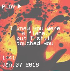 M O O N V E I N S 1 0 1 #vhs #aesthetic #flame #orange #yellow #hand #text #you