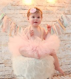 Your place to buy and sell all things handmade Pink First Birthday, First Birthday Outfits, Bodysuit, Shabby Flowers, Baby Tutu, Pink Tutu, Baby Pictures, First Birthdays, Flower Girl Dresses