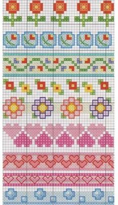 Cross stitch pattern, borders.: