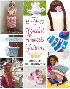12 Free Crochet Princess Patterns compiled by The Stitchin' Mommy | www.thestitchinmommy.com