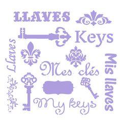 Stencils, Calligraphy, Math, Keys, Craft, Stencil Patterns, Emboss, Wood, Vintage Illustrations